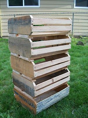 how to make fruit crates from pallets (maybe for a use other than food - there is concern re: chemicals in pallet wood)