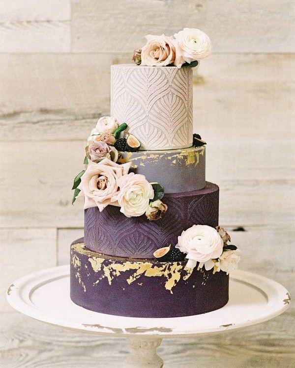 Vintage Ombre lila Hochzeitstorte 13 #Hochzeit #Hochzeitstorten #Kuchen #Hochzeitsideen …   – Wedding Cakes & Dessert
