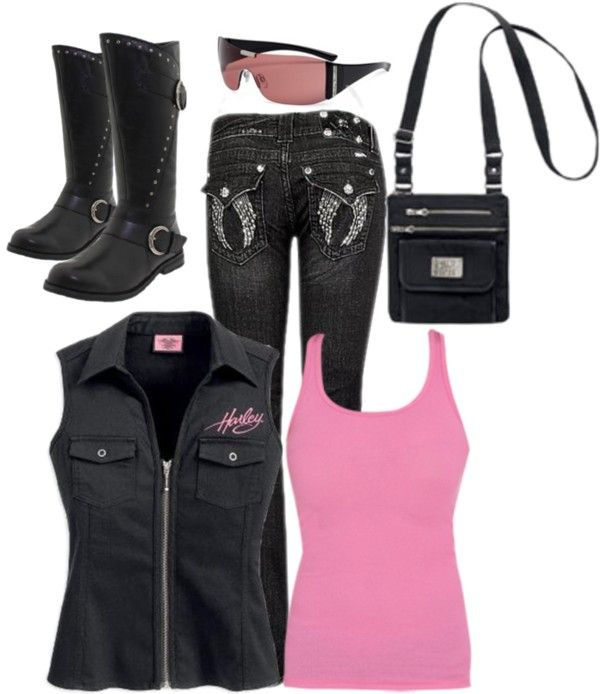 """""""Harley Pink"""" by lkthompson on Polyvore"""