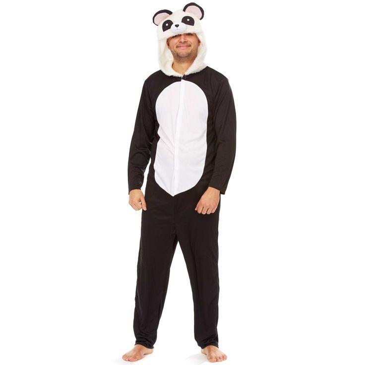 Déguisement de panda                             noir/blanc Homme  - Kiabi
