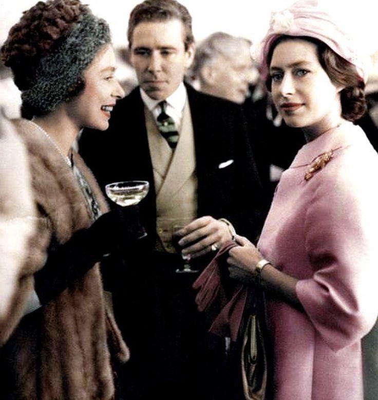 Princess Elizabeth (Queen Elizabeth II) with Princess Margaret