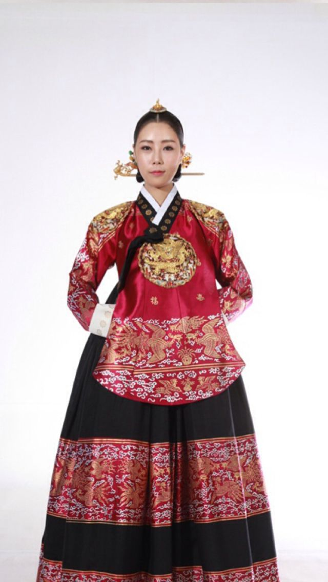 Korean hanbok/dangui, dong yi - queen jang ok jung