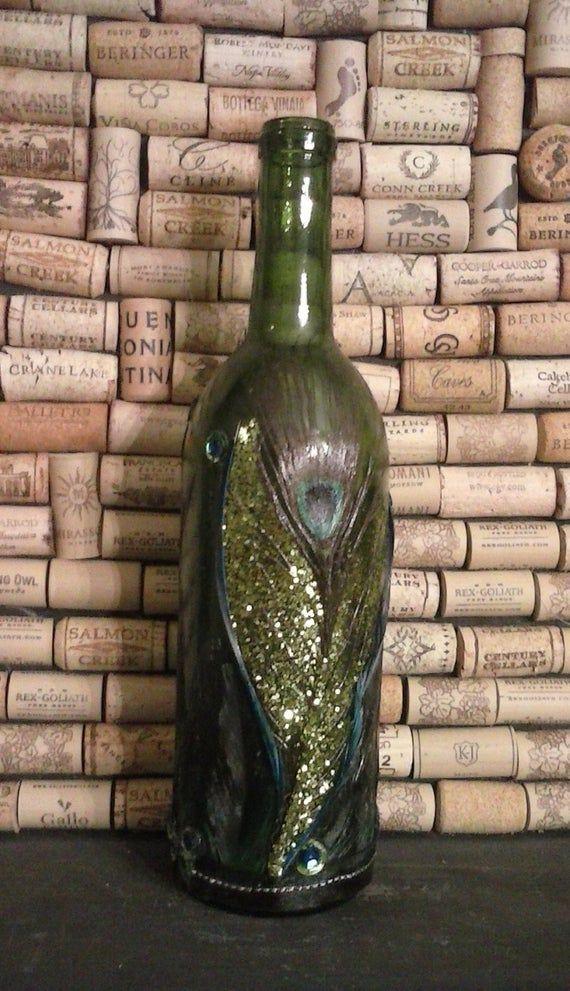 Wein #Flasche #Leicht #Upcycled #Grün #Wein #Flasche