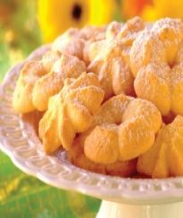 Custard cookies - replace margarine with butter.