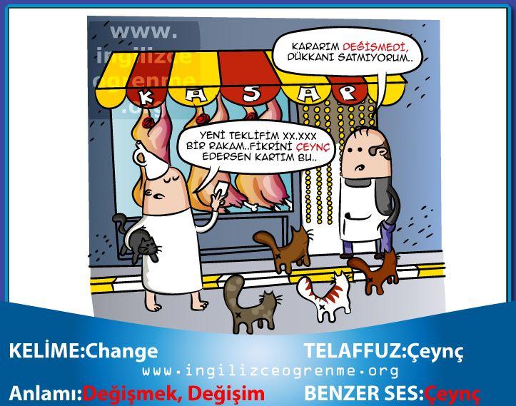 Change Türkçe anlamı nedir?