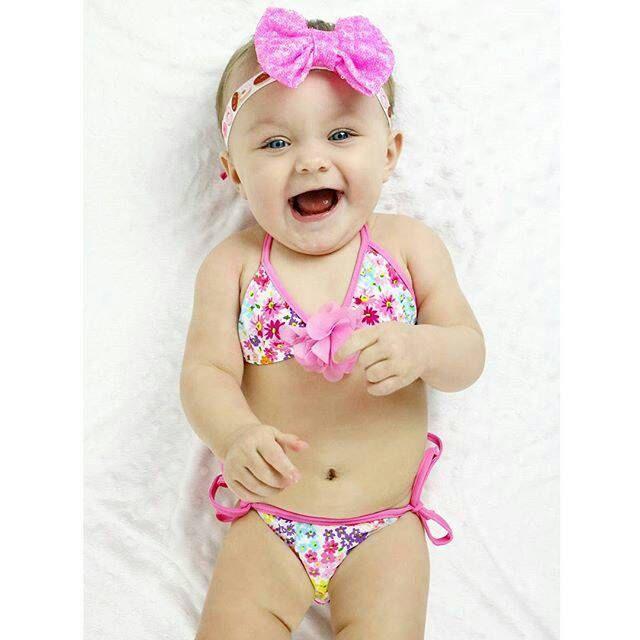 Girls Swimsuit Baby Toddler Swimwear Bathing by SOUTHofURBANshop