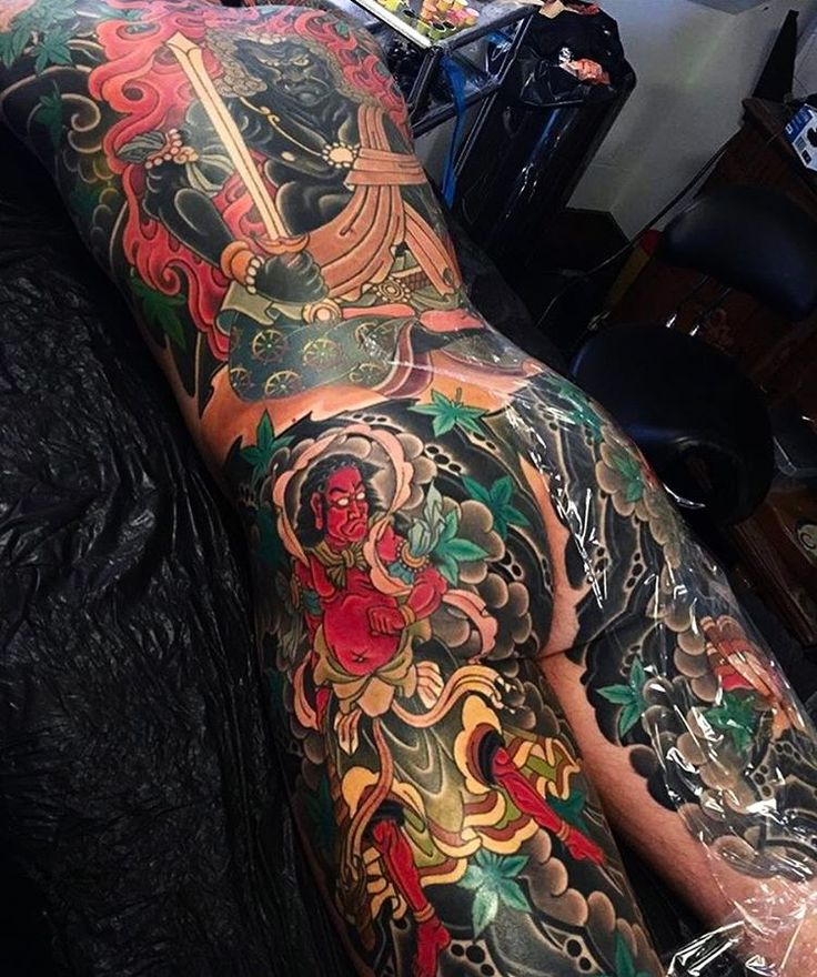 Japanese back tattoo by marcoserio. japaneseink