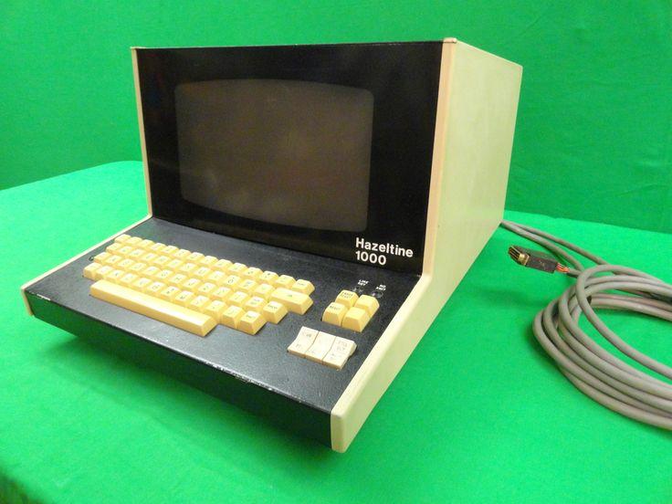 RARE Vintage 1974 Computer Terminal Hazeltine 1000