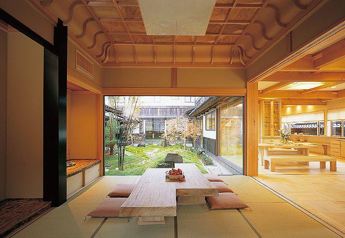 無垢材を使ったインテリアを紹介 和室 折り上げ格天井.3【夢ハウス】