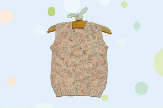 A Unisex Baby Vest by miCalorKnits on Etsy