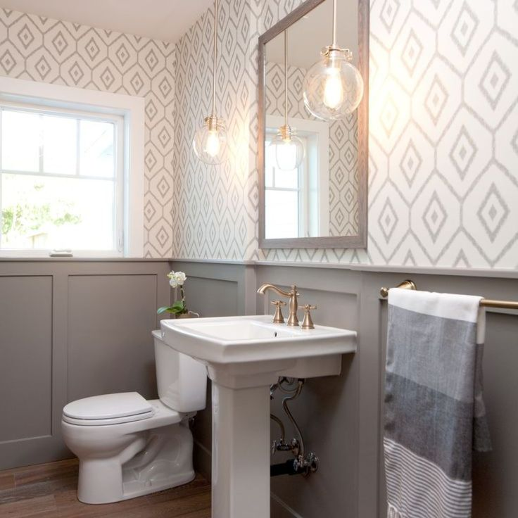 1000+ Ideas About Small Bathroom Wallpaper On Pinterest