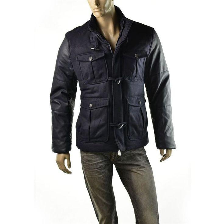http://stores.ebay.com/ImageStudio714 | Armani Exchange Jacket Mens A/X Wool Utility Toggle Coat Size L Coats $268 NEW #ArmaniExchange #BasicJacket