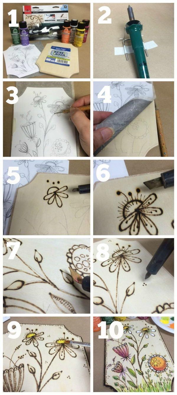 DIY Wood Burning Art.