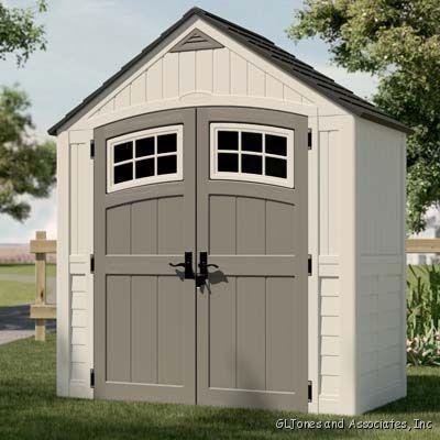 699 suncast 7x4 garden storage shed bms7400 ebay