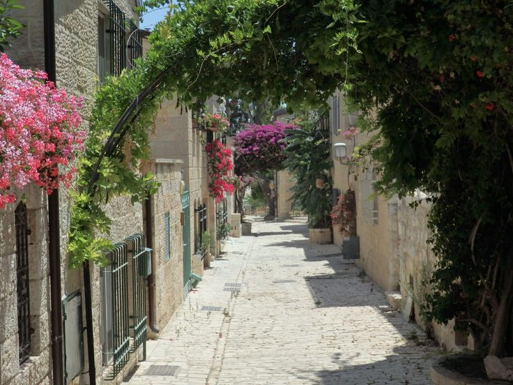 A street in Yemin Moshe, a neighborhood just outside the old walls of Jerusalem