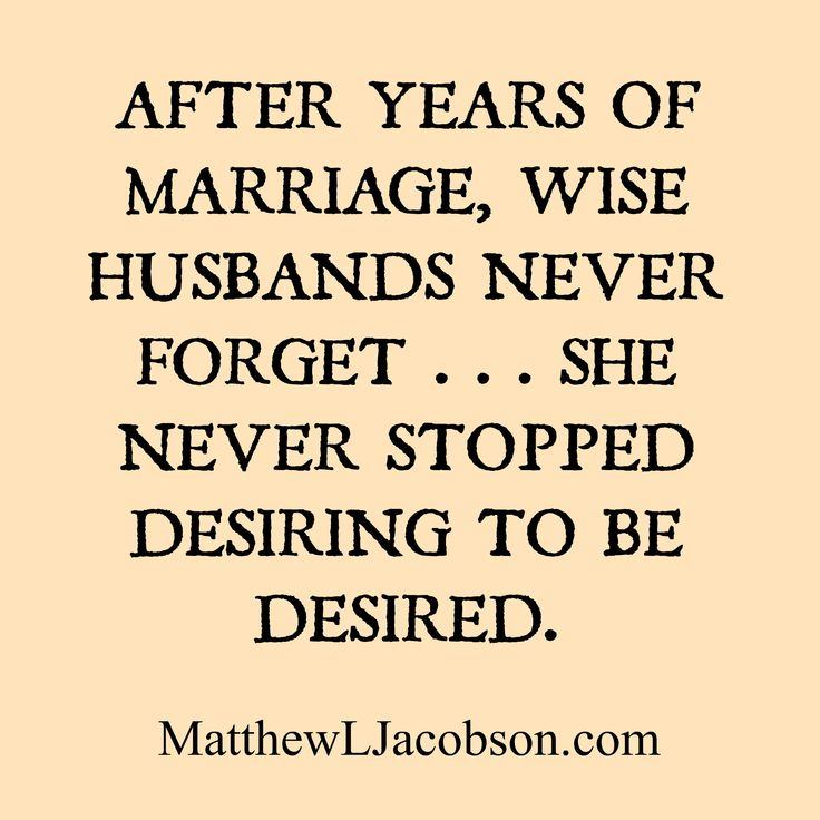 What every husband should remember.