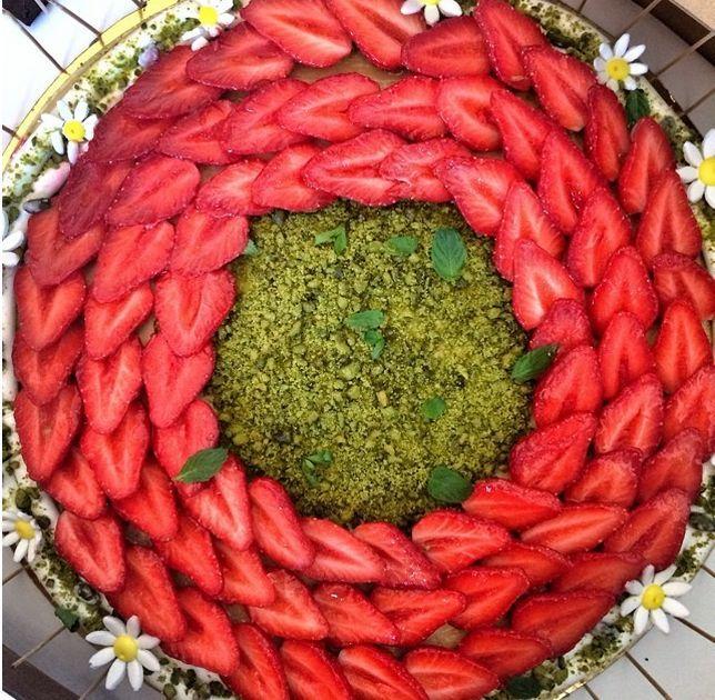 Tarte aux fraises et pistache de Jean Imbert