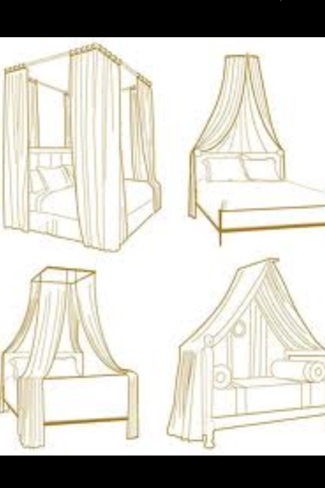 """Romantic canopy bed ideas for the """"Starman"""" video."""