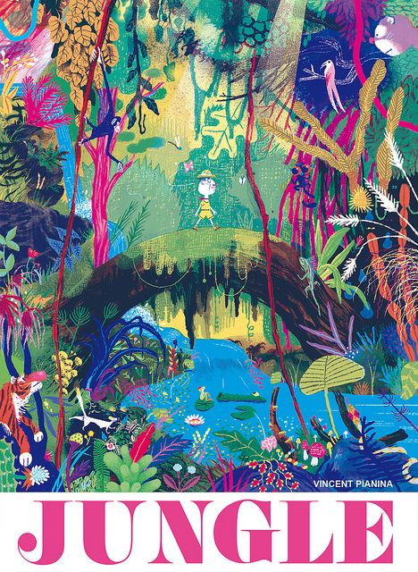 JUNGLE - Vincent Pianina We think this Jungle needs to go on our magical garden board!