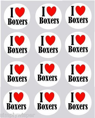 12 i love #boxers cupcake decoration #edible cake #toppers dog pre cut 40mm,  View more on the LINK: 	http://www.zeppy.io/product/gb/2/261072616382/