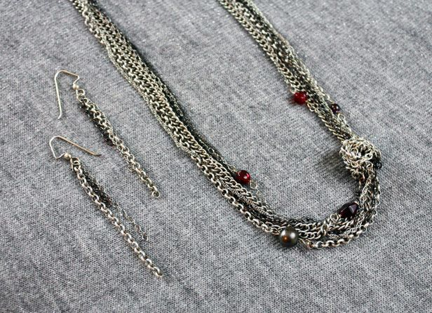 necklace chain - another close-upUpcycling Chains, Upcycling Projects, Diy Jewelry, Necklaces Chains, Chains Necklaces, Diy Necklaces Using Chains, Knots Necklaces, Diy Knots, Upcycling Ideas