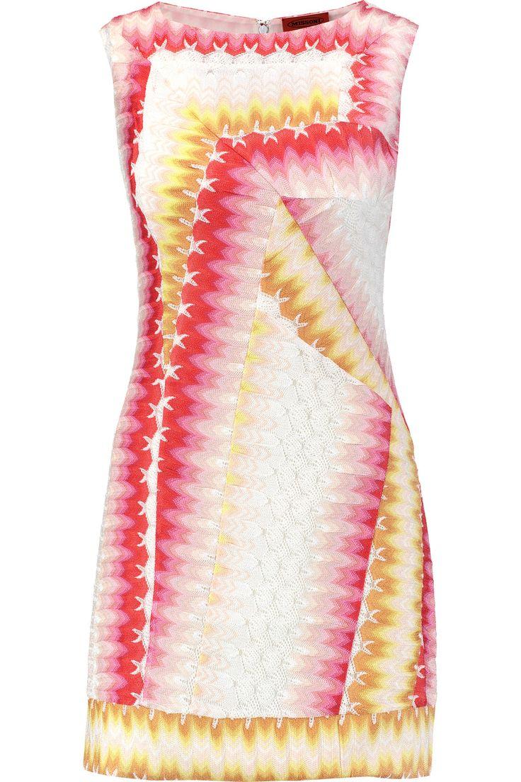 MISSONI Crochet-Knit Mini Dress. #missoni #cloth #dress