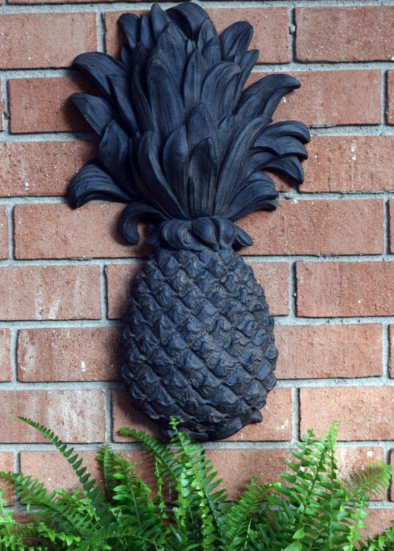 Outdoor Pineapple Plaque Wrought Iron Wall Décor in 2019
