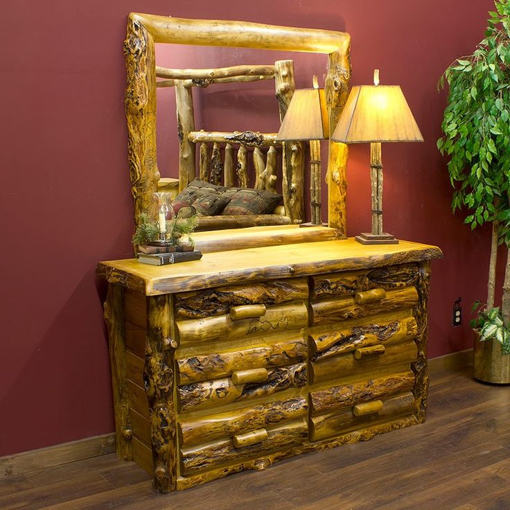 Find This Pin And More On Rustic Bedroom Furniture It S Like Sleeping With Nature But Not