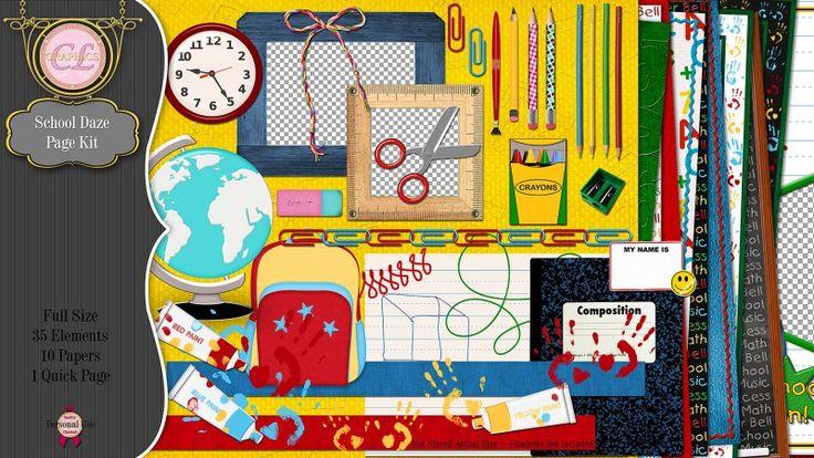 CLGraphics School Daze Page Kit