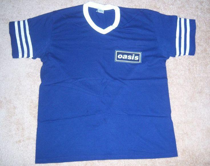 RARE STYLE Vintage OASIS Blue Band SHIRT XL concert/tour l | eBay