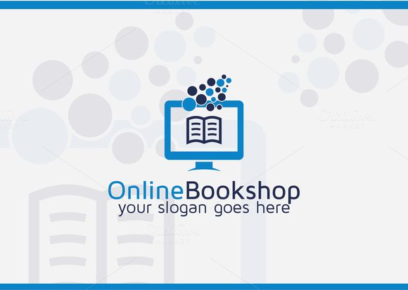 Online Book Shop Logo by Cristal Pioneer on Creative Market