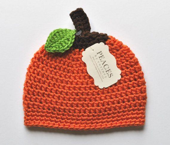 Pumpkin Baby Beanie / Baby Hat / Newborn Hat  by Peaces by Cortney www.etsy.com/shop/peacesbycortney