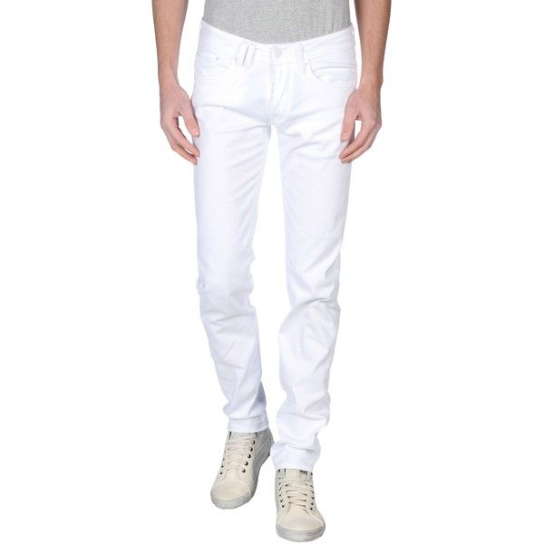 Cycle Casual Pants ($39) ❤ liked on Polyvore featuring men's fashion, men's clothing, men's pants, men's casual pants, white, mens white pants and men's 5 pocket pants