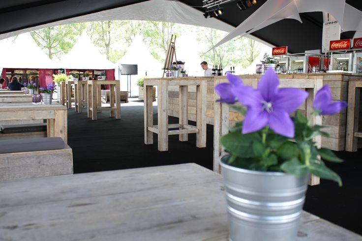 Steigerhouten statafels & bar