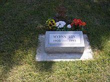 Myrna Loy's grave in Forestvale Cemetery, Helena, Montana