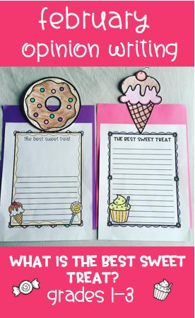 February is full of sweet treats, so it is the perfect time for student to share their opinion on the best sweet treat of all with this fun opinion writing craftivity!