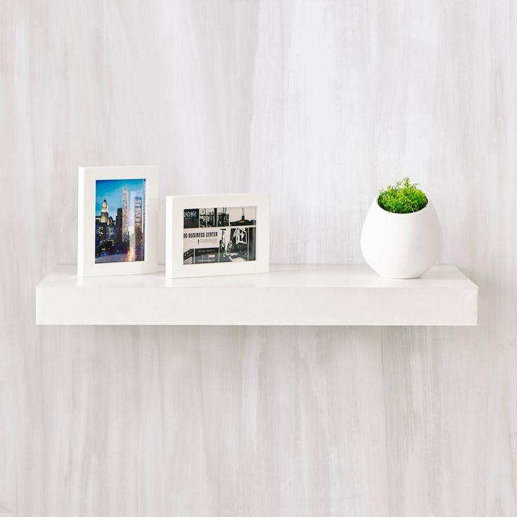 1000 ideas about floating shelf decor on pinterest floating shelves hanging bookshelves and. Black Bedroom Furniture Sets. Home Design Ideas