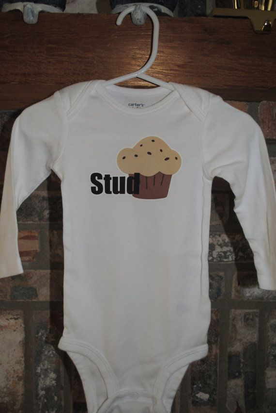 Adorable Stud Muffin Onesie for Baby Boy, Long-Sleeve Bodysuit, Cute Nickname for Little Guy