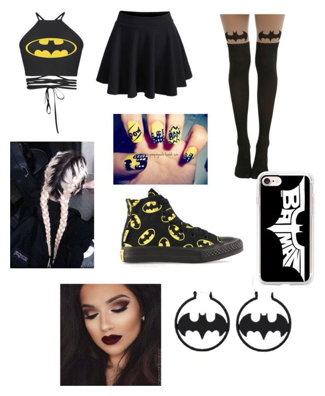 """""""Batman outfit"""" by jaraujo3 on Polyvore featuring WithChic, Converse and Casetify"""