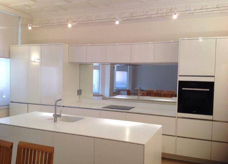 Toughened mirror splashback