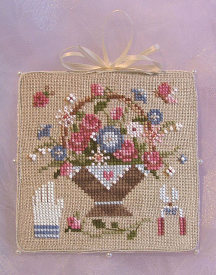 Flower Baskets Cross Stitch Charts : Best cross stitch pot basket images on