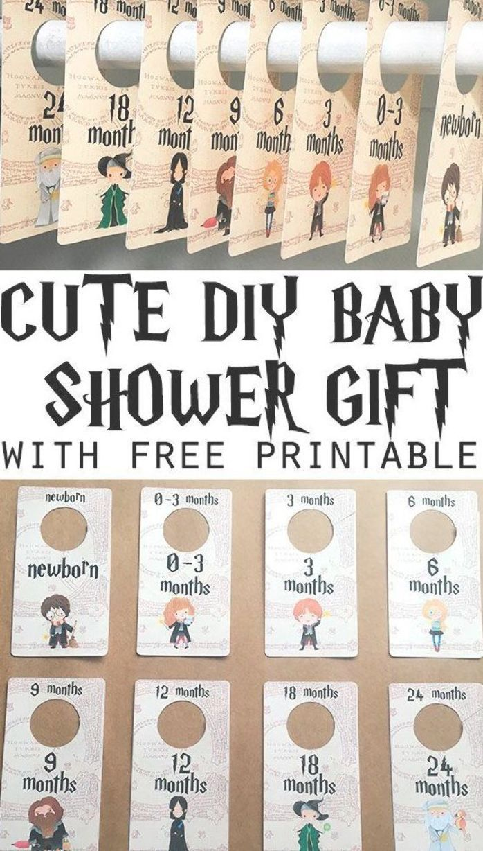 Free Printable Harry Potter DIY Baby Closet Dividers featuring all the Harry Potter characters to help you decorate your...