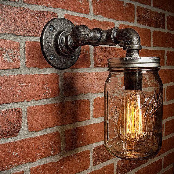 Rustic Industrial Modern Mason Jar Lights Vanity Light: Best 25+ Edison Lighting Ideas On Pinterest