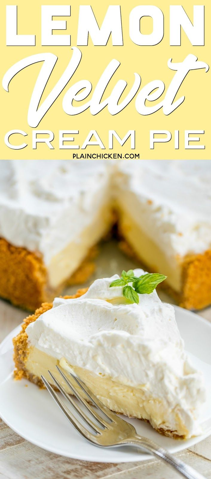 Lemon Velvet Cream Pie Hands Down The Best Lemon Pie Ever Everyone Raves About This Lemon Dessert Recipes Lemon Pie Recipe Condensed Milk Lemon Pie Recipe