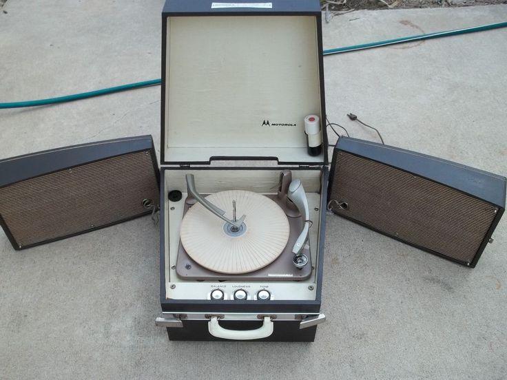 Vintage 1959 Motorola Stereophonic Suitcase  Record Player Model SH 16E Works! #Motorola