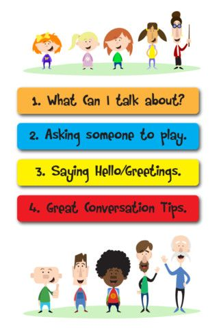 Conversation social stories is made up of four social stories about different conversational skills and simple communication tools to go with them. - Re-pinned by @PediaStaff – Please Visit http://ht... for all our pediatric therapy pins