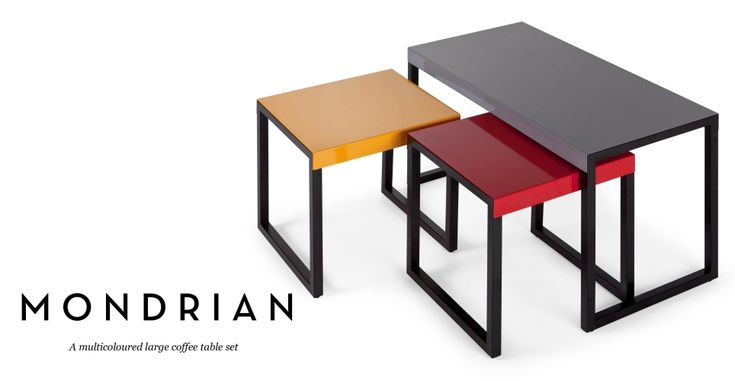 Mondrian Large Coffee Table Set Made.com