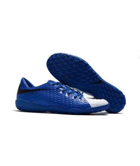 Nike Hypervenom Phelon III TF NA UMĚLÝ POVRCH Modrý Bílá Černá Muži Leather Kopačky