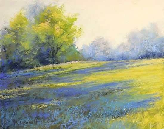 "Afternoon Shadows by Kathy McDonnell Pastel ~ 8"" x 10"""