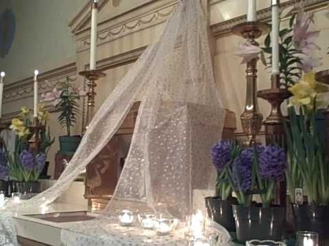St. Bartholomew Catholic Church Holy thursday Altar of Repose